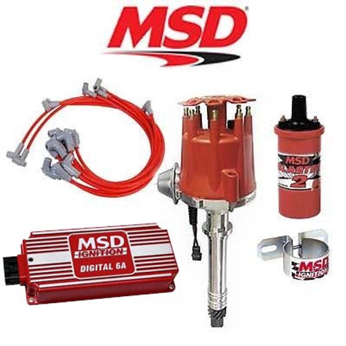 MSD 90101 Ignition Kit - Digital 6A/Distributor/Wires/Coil/ - SBC Vacuum Advance