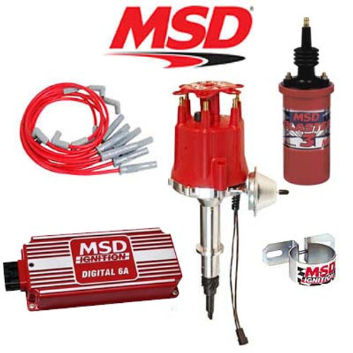 MSD 90091 Ignition Kit - Digital 6A/Distributor/Wires/Coil Jeep 4.2L Inline 6