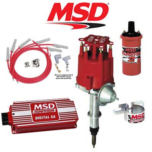 MSD 90121 Ignition Kit - Digital 6A/Distributor/Wires/Coil Chevy Inline 6 Cyl