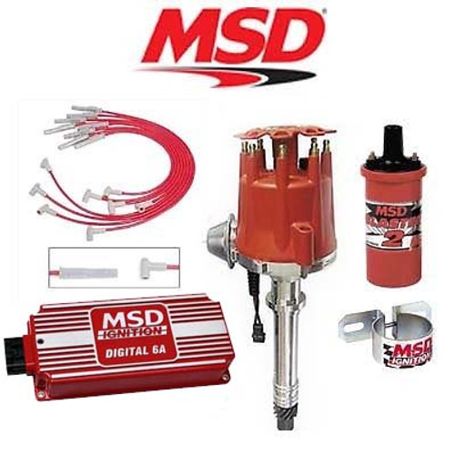MSD 90111 Ignition Kit - Digital 6A/Distributor/Wires/Coil/ - BBC Vacuum Advance