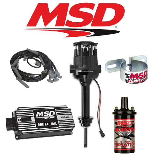 MSD Black Ignition Kit Digital 6AL/Distributor/Wires/Coil - Chrysler 413-440 RB