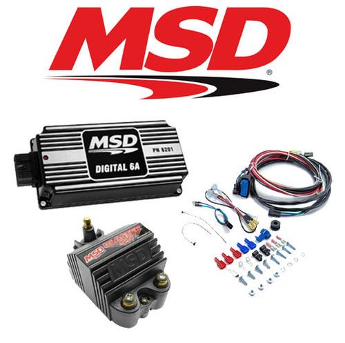 MSD 99553 Black Ignition Kit 62013 Digital 6A Ignition Box/82073 Blaster SS Coil