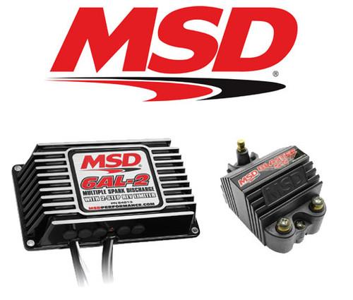 MSD Ignition Kit - 64213 Digital 6AL-2 Ignition Box & 82073 Blaster SS Coil