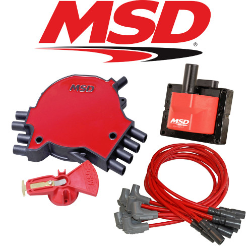 MSD Ignition Tuneup Kit - 1996 Chevy Corvette C4 5.7L LT1 Cap/Rotor/Coil/Wires