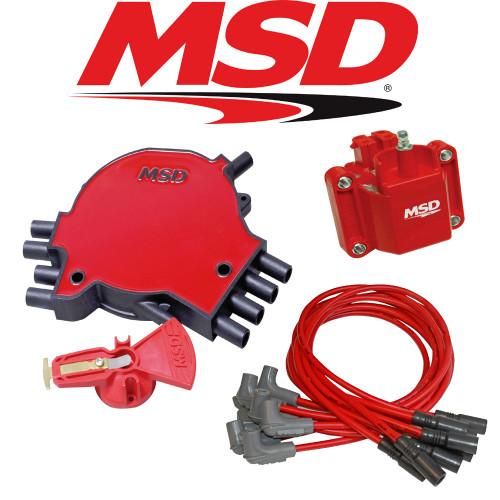 MSD Ignition Tuneup Kit - 1995 Corvette C4 5.7L LT1 Cap/Rotor/Coil/Wires
