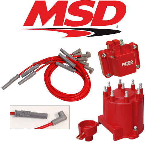 MSD Ignition Tuneup Kit - 1990-95 Chevy/GMC Truck 454/7.4L Cap/Rotor/Coil/Wires