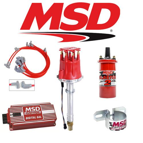 MSD Complete Ignition Kit - Digital 6AL/Distributor/Wires/Coil SBC Roller Cam