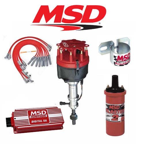 MSD 90131 Ignition Kit 6A/Distributor/Wires Ford 351C-M/400/429/460 Roller Cam