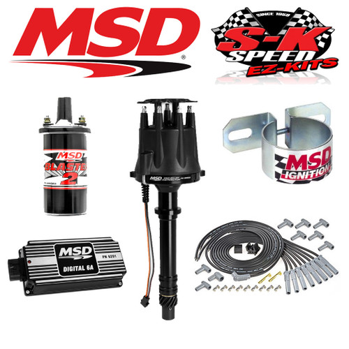 MSD BLACK Ignition Kit Digital 6A/Distributor/Wires/Coil/Bracket Big Block Chevy