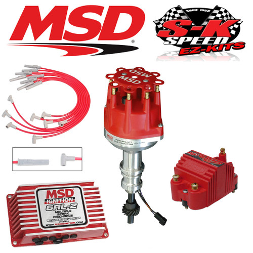MSD 9174 Ignition Kit 6AL-2 Box/Distributor/Wires/Coil Ford 351C-M/400/429/460