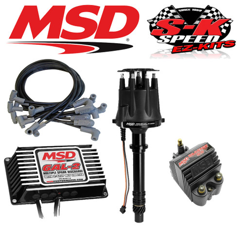 MSD 91503 Ignition Kit Digital 6AL-2/Distributor/Wires/Coil Small Block Chevy