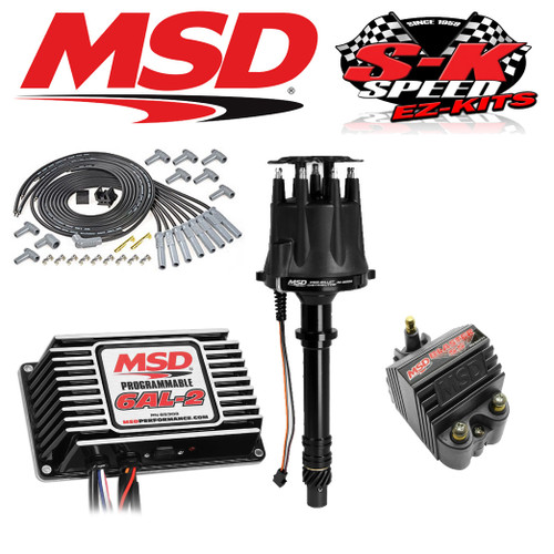 MSD 92513 Ignition Kit Programmable 6AL-2/Distributor/Wires/Coil Big Block Chevy