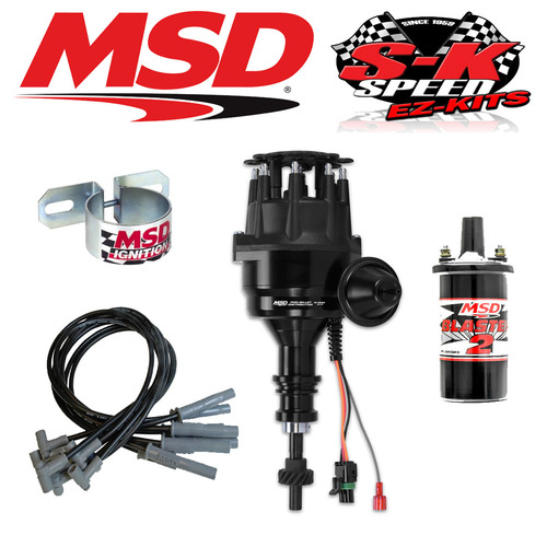 MSD 99023 Ignition Kit Ready to Run Distributor/Wires/Coil - Early Ford 289/302