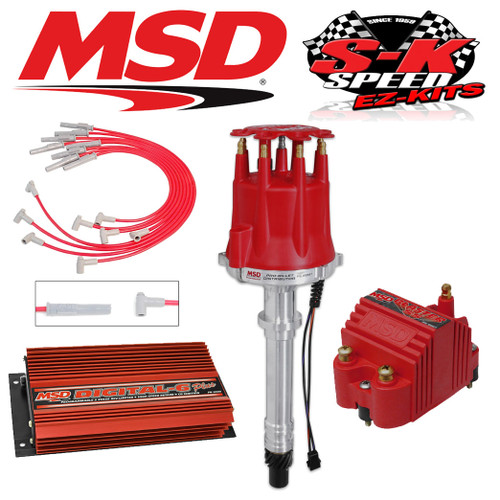 MSD 9501 Ignition Kit - Digital 6 Plus/Distributor/Wires/Coil Big Block Chevy