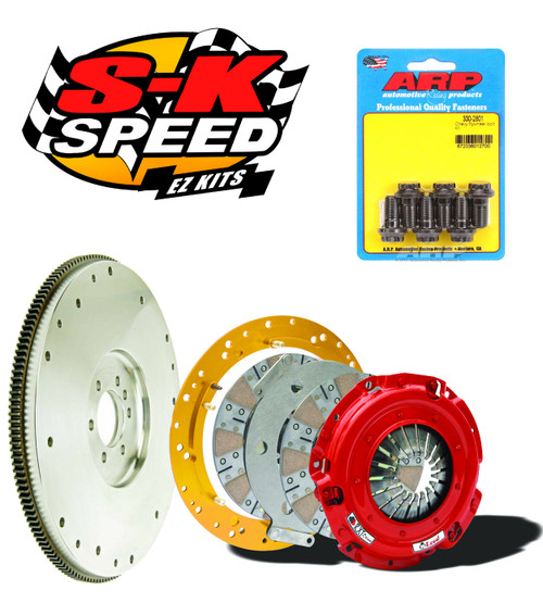 McLeod RXT Twin Disc Kit With Steel Flywheel for GM LS1 LS Engines T56 1100 HP