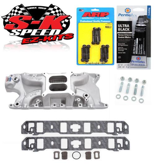 Edelbrock 7121 Ford 260/289/302 Performer RPM Intake Manifold Bolts/Gaskets/RTV