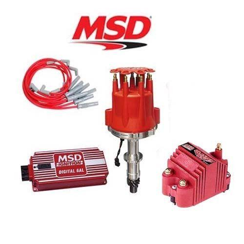 MSD 9106 Ignition Kit - Digital 6AL/Distributor/Wires/Blaster SS Coil Pontiac V8