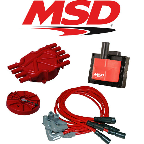 MSD Ignition Tuneup Kit - 96-98 Chevy/GMC Vortec 5.0/5.7L Cap-Rotor-Coils-Wires