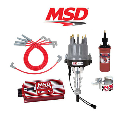 MSD 9040 Ignition Kit - Digital 6AL/Distributor/Wires/Coil Ford 2300 4 Cylinder