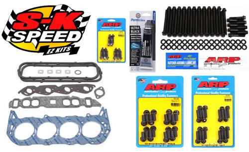 Edelbrock/ARP Top End Gasket/Bolt Kit Big Block Chevy - Rectangle Port Heads