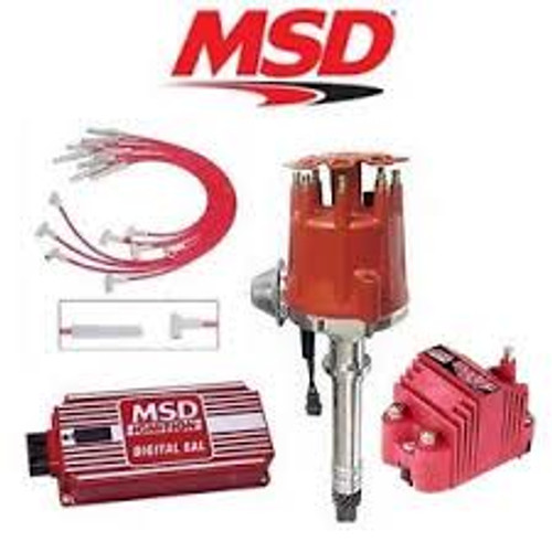 MSD 9111 Ignition Kit - Digital 6AL/Distributor/Wires/SS Coil BBC Vacuum Advance
