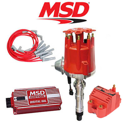 MSD 9108 Ignition Kit Digital 6AL/Distributor/Wires - Cadillac 368/425/472/500
