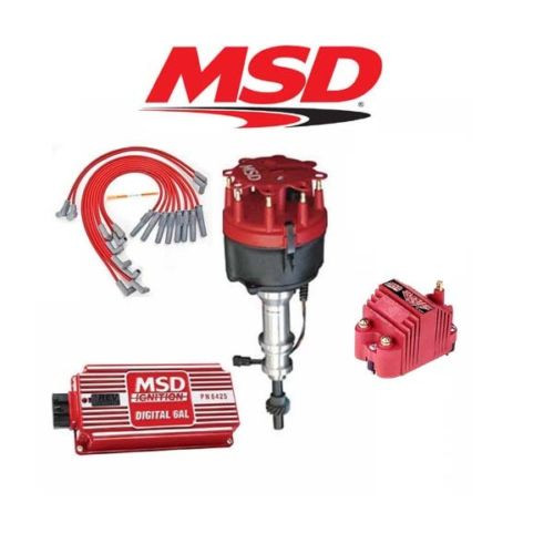 MSD 9116 Ignition Kit Digital 6AL/Distributor/Wires/Coil Ford 351W w/ Victor Jr