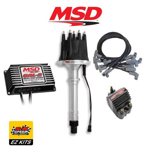 MSD Black Ignition Kit - Digital 6AL-2/Distributor/Wires/Blaster SS Coil SBC