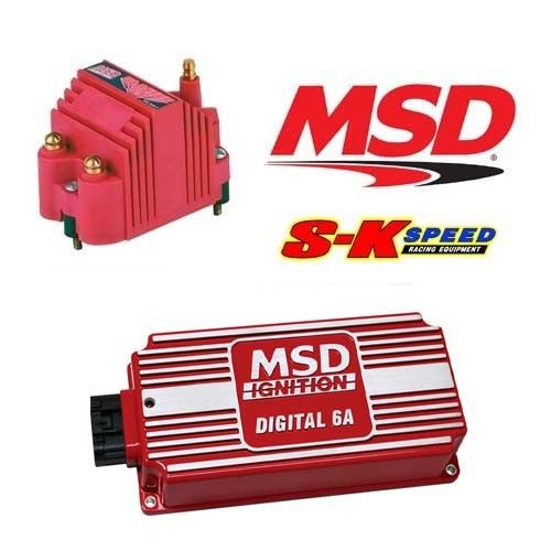 MSD 9955 Ignition Kit - 6201 Digital 6A Ignition Box & 8207 Blaster SS Coil
