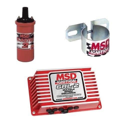 MSD 9952 Ignition Kit - 6421 Digital 6AL-2 Ignition Box With 8202 Coil & Bracket