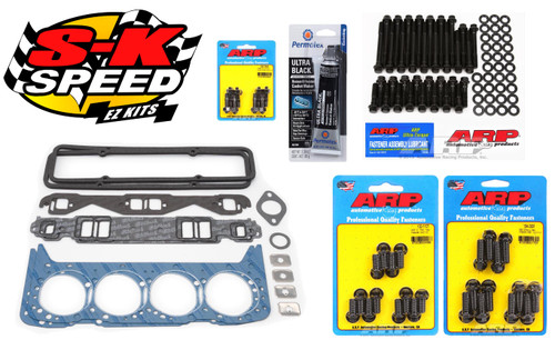 Edelbrock/ARP Top End Gasket/Bolt Kit Head/Intake/VC/Exhaust Small Block Chevy