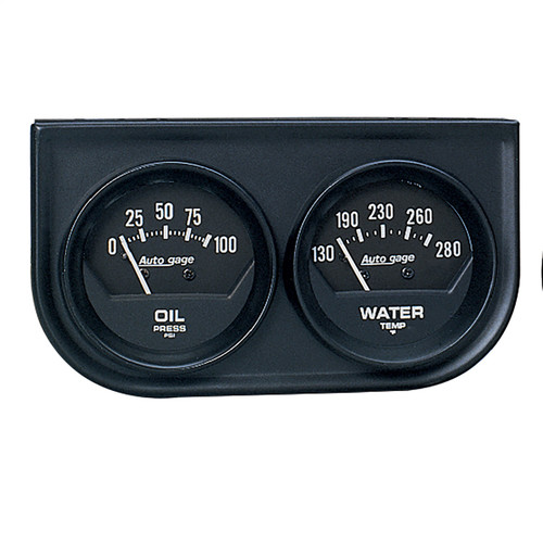 AutoMeter 2345 Autogage Black Oil/Water Black Console