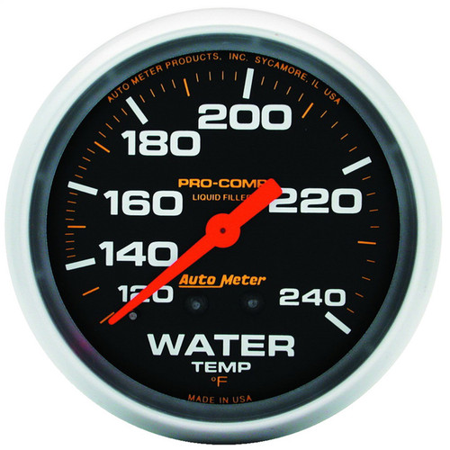 AutoMeter 5432 Pro-Comp Liquid-Filled Mechanical Water Temperature Gauge
