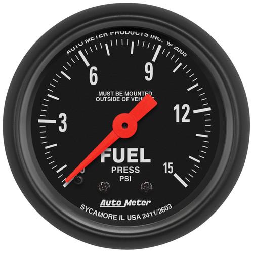 AutoMeter 2603 Z-Series Mechanical Fuel Pressure Gauge