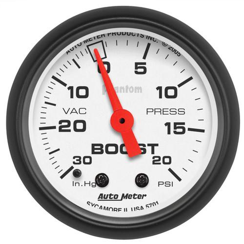AutoMeter 5701 Phantom Mechanical Boost/Vacuum Gauge