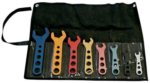 Proform 66978 8pc Anodized Aluminum AN Wrench Set - Sizes 3-20 w/ Pouch