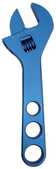 Proform 67728 Billet Aluminum Adjustable AN Wrench - 10AN - 20AN - Blue Anodized