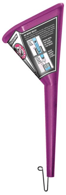Proform 68068 No-Mess Funnel - Built In Flow Stopper - Triangular - Purple