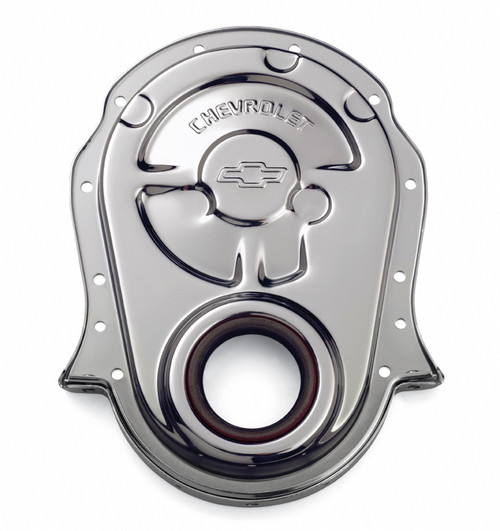Proform 141-216 Chrome Plated Steel Timing Chain Cover - Big Block Chevy