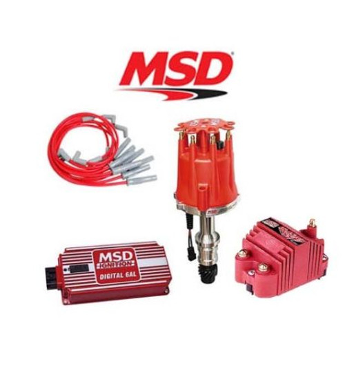 MSD Ignition Kit Digital 6AL/Distributor/Wires/Blaster Coil - Chrysler 318-360