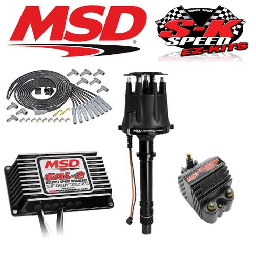 MSD 91513 Ignition Kit Black 6AL-2 Box/Distributor/Wires/Coil Big Block Chevy