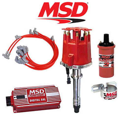 MSD 9000 Complete Ignition Kit - Digital 6AL/Distributor/Wires/Coil/Bracket SBC