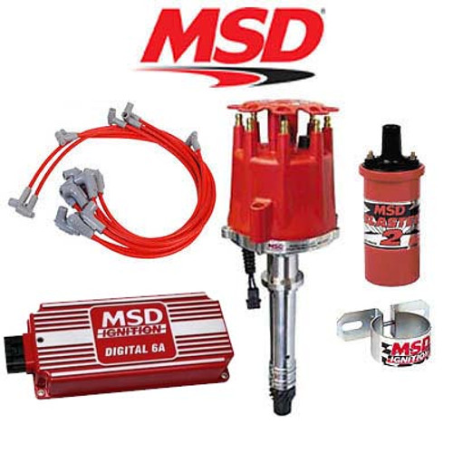 MSD 90001 Complete Ignition Kit - Digital 6A/Distributor/Wires/Coil/Bracket SBC