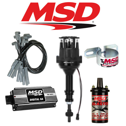 MSD Ignition Kit Black Digital 6A/Distributor/Wires/Coil Ford 351C-M/400/429/460