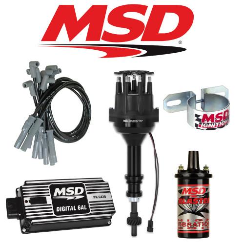 MSD Ignition Kit Black Digital 6AL/Distributor/Wires/Coil Ford351C-M/400/429/460