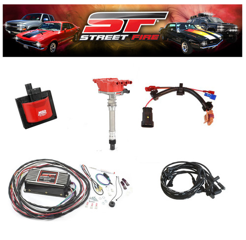 MSD 9995 Streetfire Ignition Kit 96-98 GM Truck 5.7 Vortec Distributor/Box/Wires