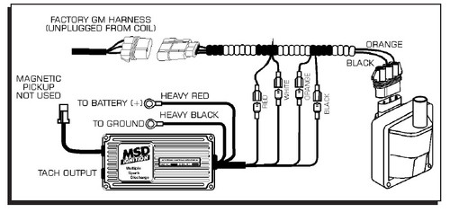 MSD 9995 Streetfire Ignition Kit 96-98 GM Truck 5.7 Vortec Distributor/Box/ Wires | 98 Chevy Silverado Wiring Diagram Coil |  | SK Speed Racing Equipment