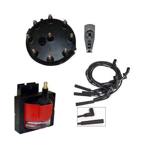 MSD Streetfire Tuneup Kit - 86-95 Mustang 5.0L Cap/Rotor/Coil/Spark Plug Wires