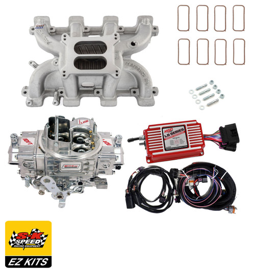 LS Carb Intake Kit - Edelbrock RPM Intake/MSD 6014 Ignition/Quickfuel 750 Carb