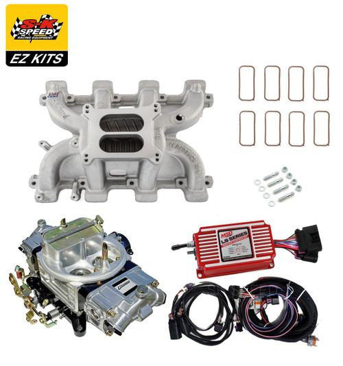 LS1 Carb Intake Kit - Edelbrock RPM Intake/MSD 6014 Ignition/Proform 850 Carb
